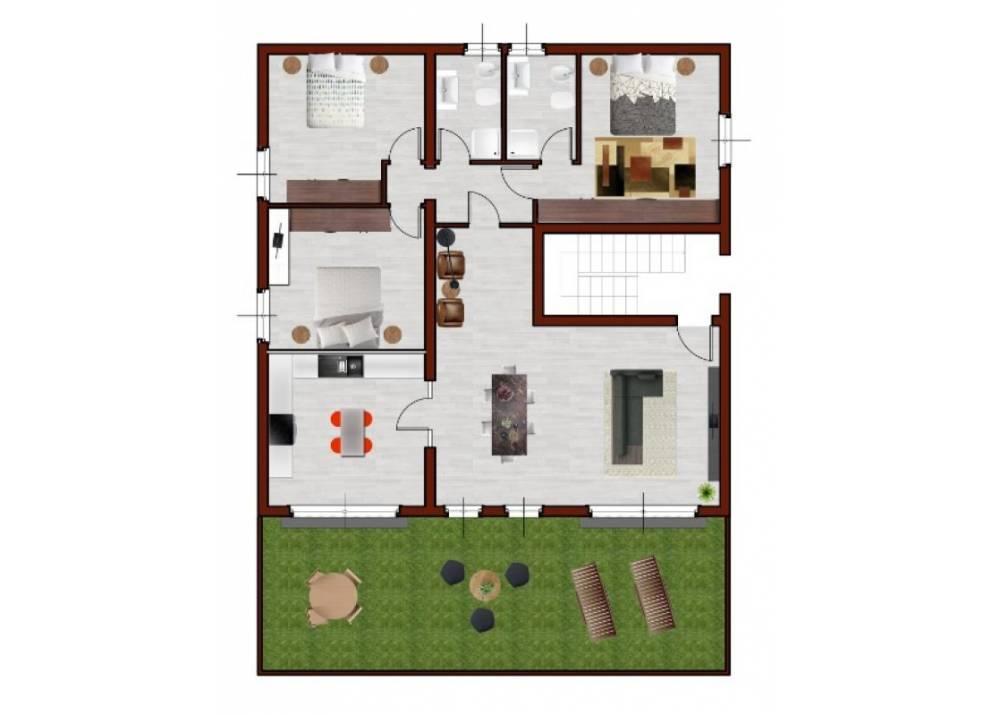 Vendita Appartamento a Parma quadrilocale Farnese/Baganza di 135 mq