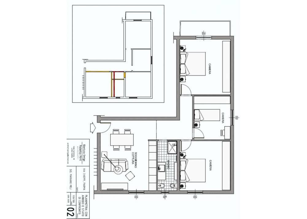 Vendita Appartamento a Parma trilocale  di 92 mq