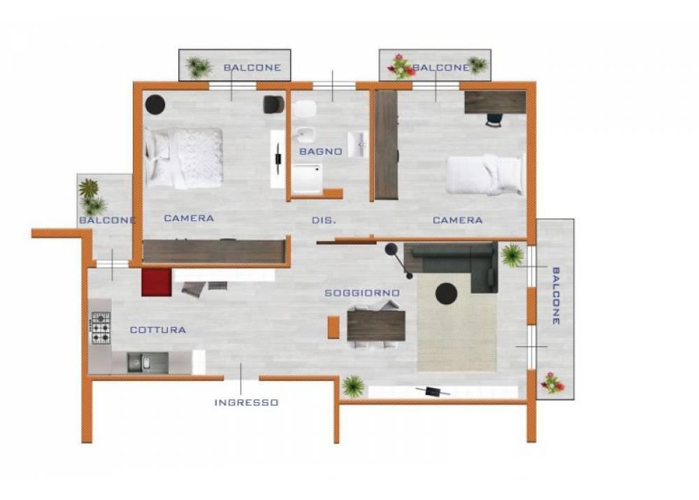 Vendita Appartamento a Montechiarugolo Via Alcide De Gasperi  di 98 mq